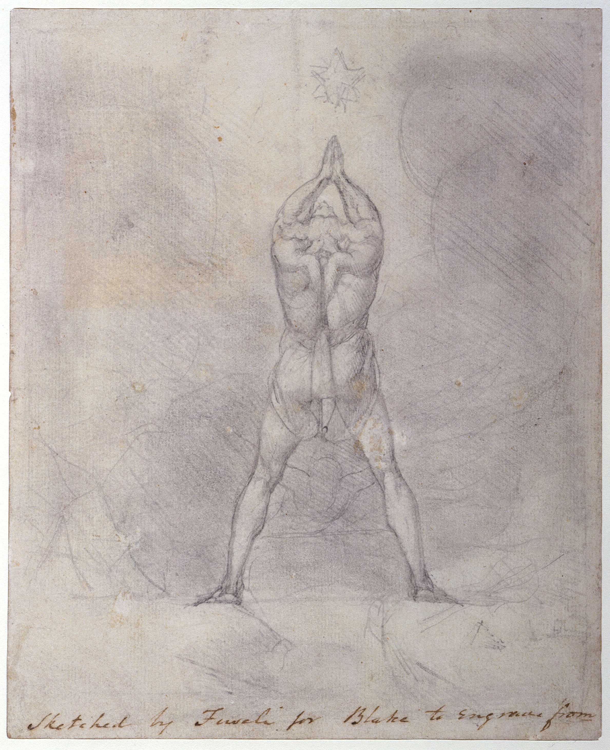 Sketched by Fuseli for Blake to engrave from