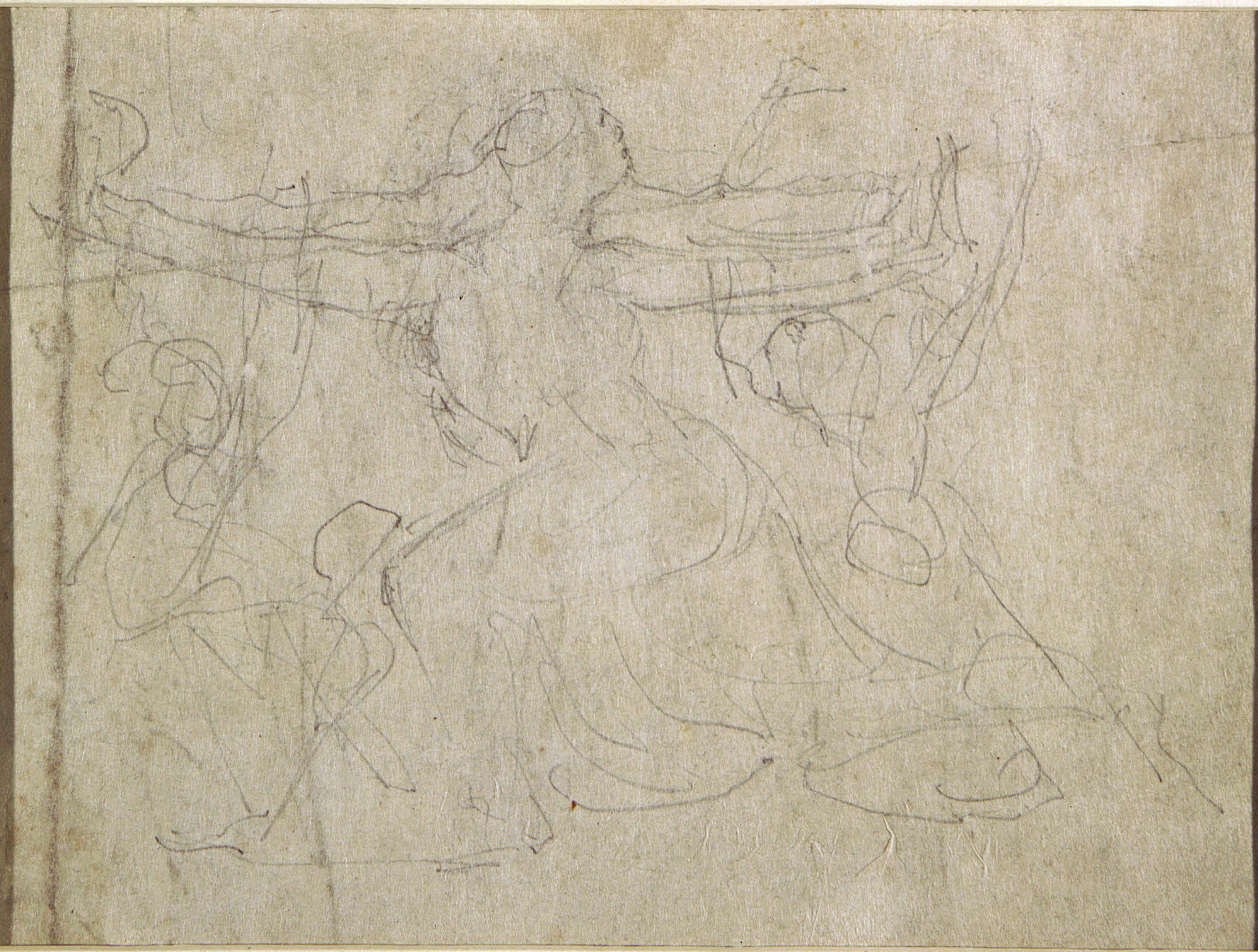 blake in the marketplace 1985 robert n essick blake an 2 blake verso of illus 1 showing an alternative sketch for the kneeling figure lower center in the recto design pencil approx 15 5 24 cm