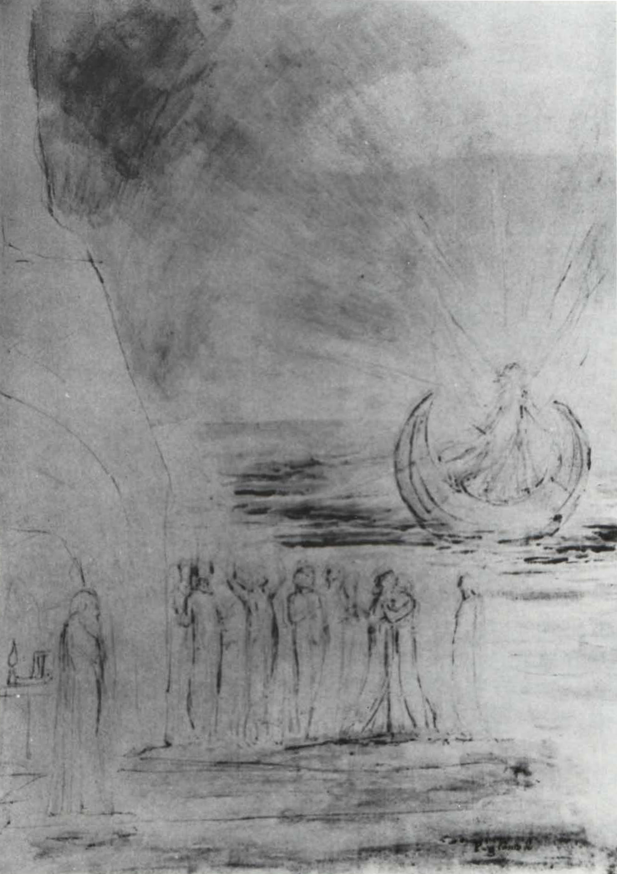 Blakes moon ark symbolism nicholas o warner blakean 1 blake the angelic boat wafting over the souls for purgation courtesy of the trustees of the british museum buycottarizona