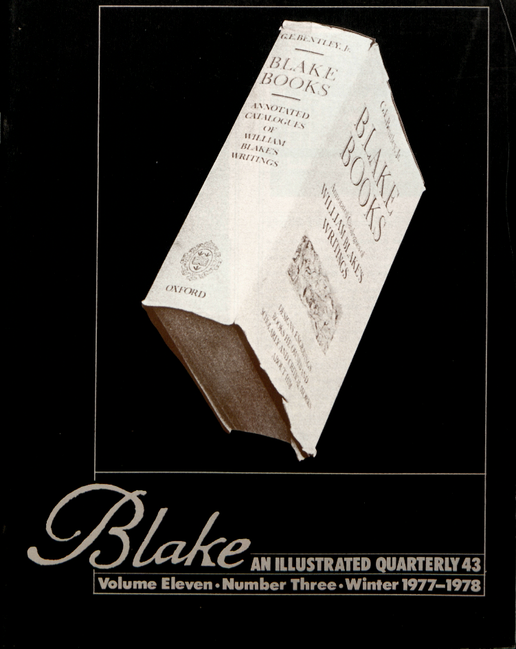 Blake                                                             AN ILLUSTRATED QUARTERLY 43                                                             Volume Eleven                                                             Number Three                                                             Winter 1977-1978
