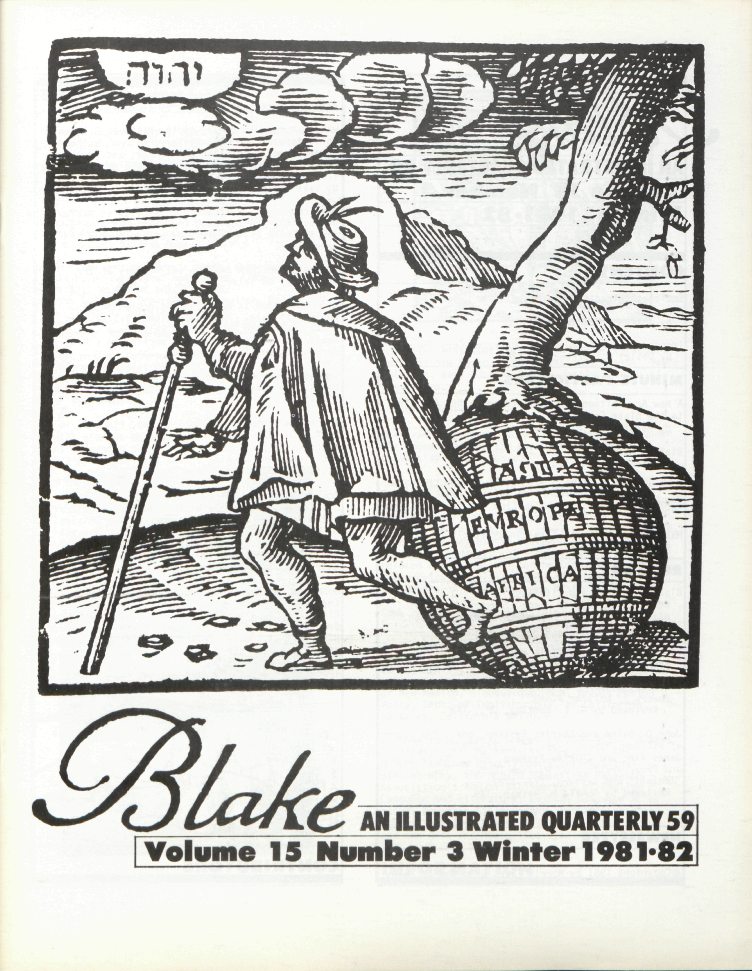 Blake  AN ILLUSTRATED QUARTERLY 59  Volume 15  Number 3             Winter 1981-82